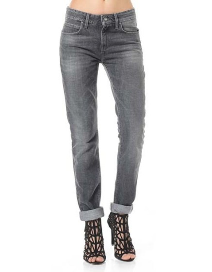 Reiko jeans boy gris noir