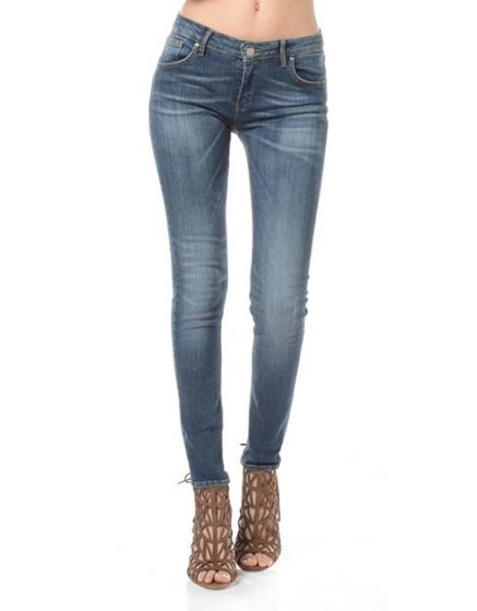 Skinny dark denim
