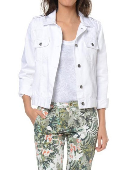 Reiko veste en jeans - WHITE