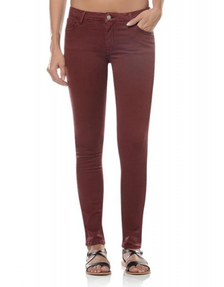 Pantalon skinny couleur Noémie - CRANBERRY