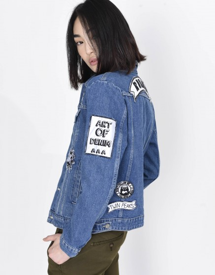 Veste en jean Vahia Patch - DENIM
