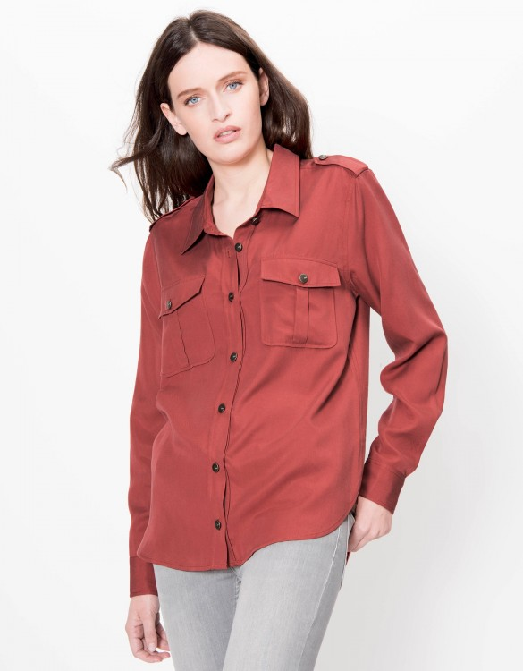 Flow shirt Carlyne - GRENAT ROSE