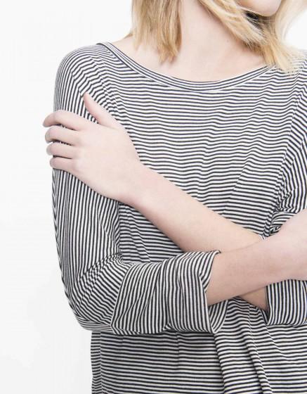 T-shirt Tery Groove - RAYURES BLACK WHITE