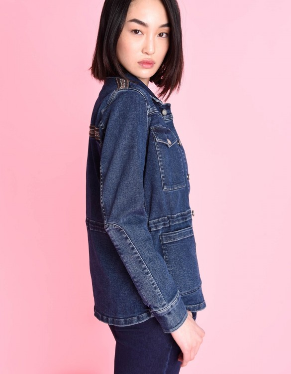 Denim jacket Alex Herring - DENIM BLUE
