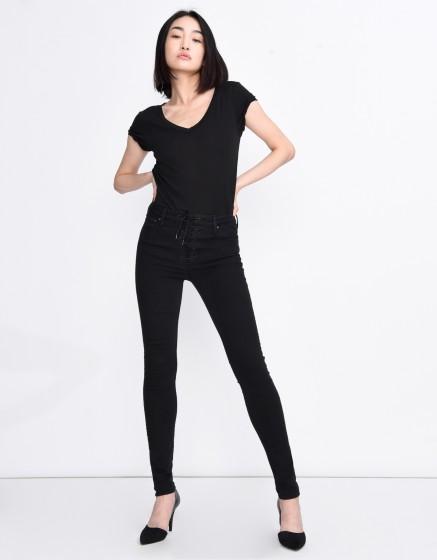 High waist jean Aron Black - BLACK DENIM