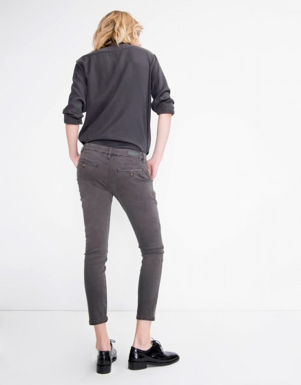 Chino Trousers Sandy Vintage - CARBONE
