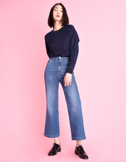 Jean flare cropped Poline - DENIM V-23