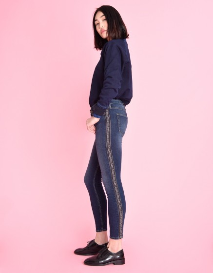 High waist jean Anry Herring - DENIM BLUE