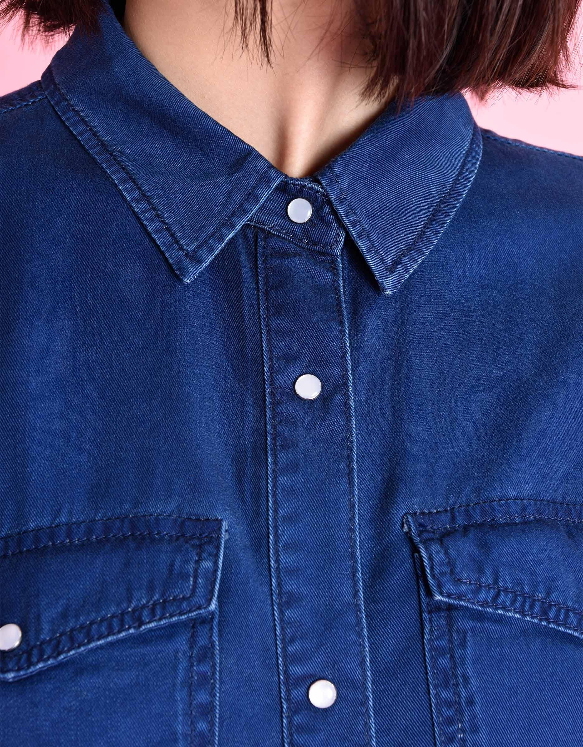 Fluid Indigo Denim Shirt For Women Conrad Reiko