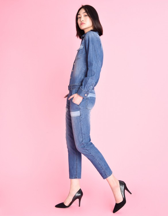 Denim jumpsuit Leo - DENIM BLUE
