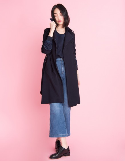 Trench en jean Thomson Fleece - INDIGO