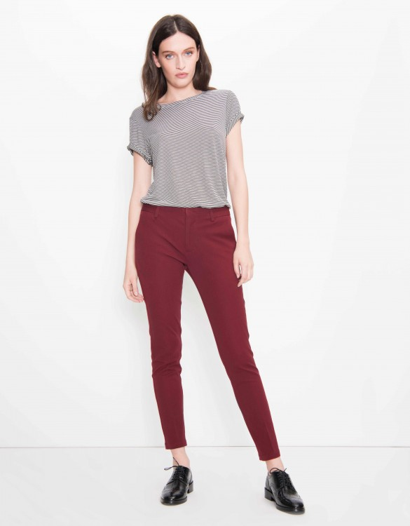 Cigarette Trousers Lizzy Color - CARMIN
