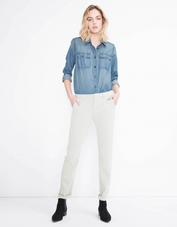 Chino Trousers Sandy Flow - ANTIC WHITE
