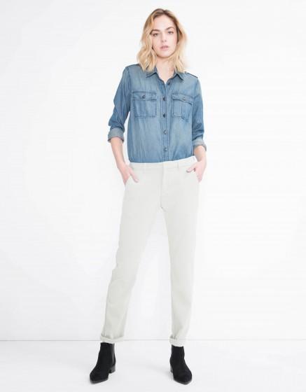 Pantalon chino Sandy Fluide - ANTIC WHITE
