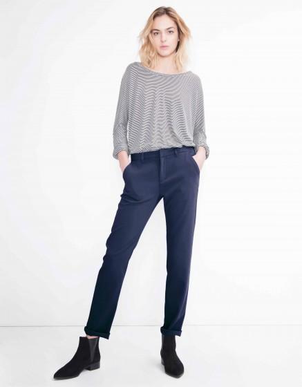 Pantalon chino Sandy Fluide - NAVY