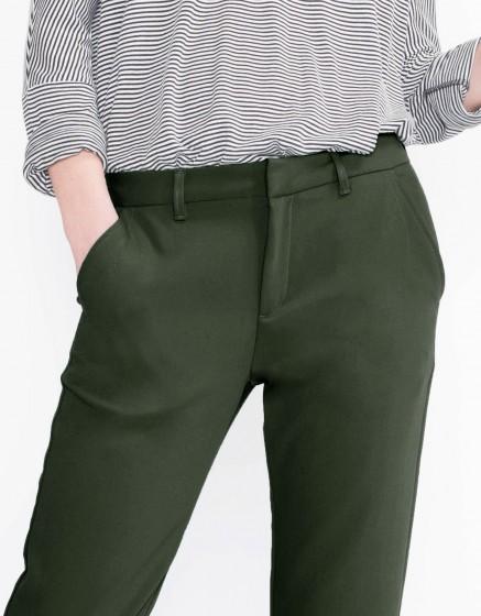 Pantalon chino Sandy Fluide - VERT BOUTEILLE