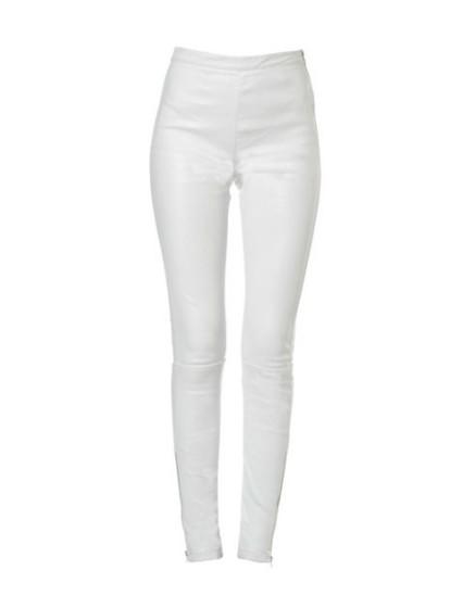 Legging en cuir Naya Zip - WHITE
