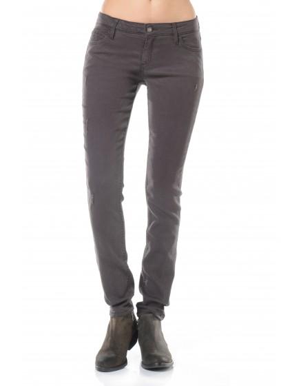 Pantalon skinny couleur Moana - CARBONE
