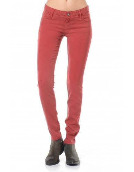 Pantalon skinny couleur Moana - CERISE