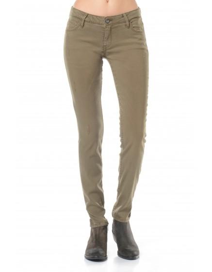 Pantalon skinny couleur Moana - KAKI