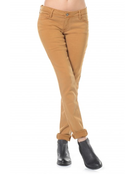 Pantalon slim couleur Nahel - MOUTARDE