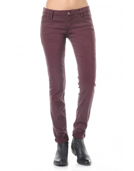 Pantalon slim couleur Nahel - VIGNE