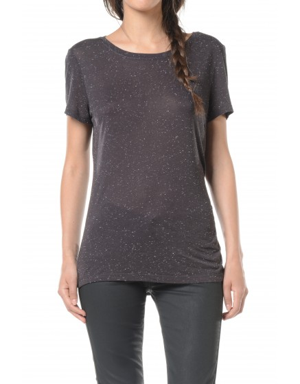 T-shirt fluide Tia - CARBONE