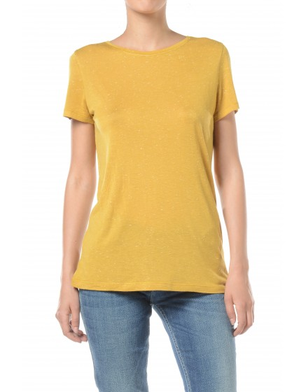T-shirt fluide Tia - MOUTARDE