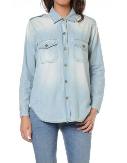 Reiko chemise en jeans - BLEACHED