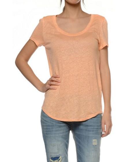 Reiko T-shirt lin - CORAIL