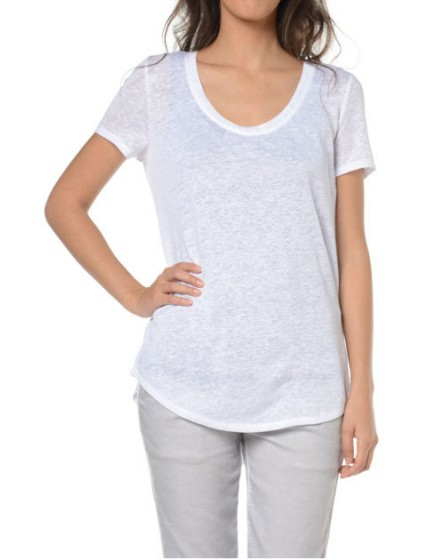 Reiko T-shirt lin - WHITE