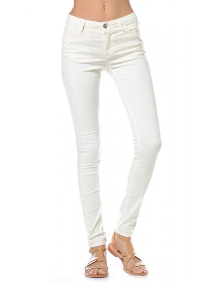 Pantalon skinny couleurs Sora - CREME