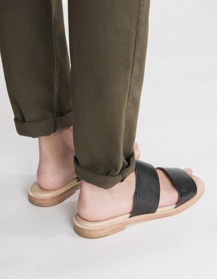 Pantalon chino Sandy Basic 2 - DARK KAKI