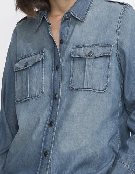 Chemise en jean Carlyne - DENIM BLUE