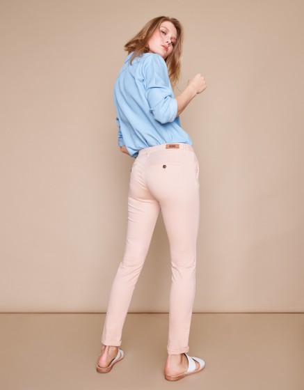 Chino Trousers Sandy Basic 2 - SMOKY PINK
