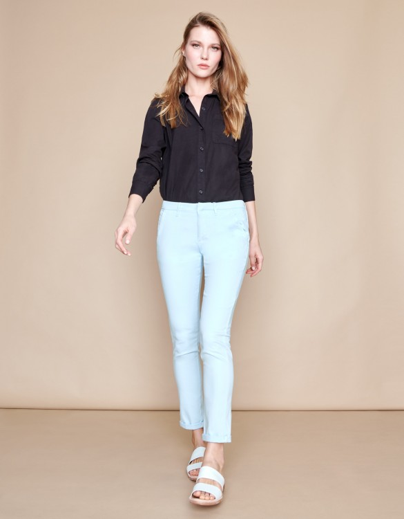 Chino Trousers Sandy Basic 2 - BLEU PALE