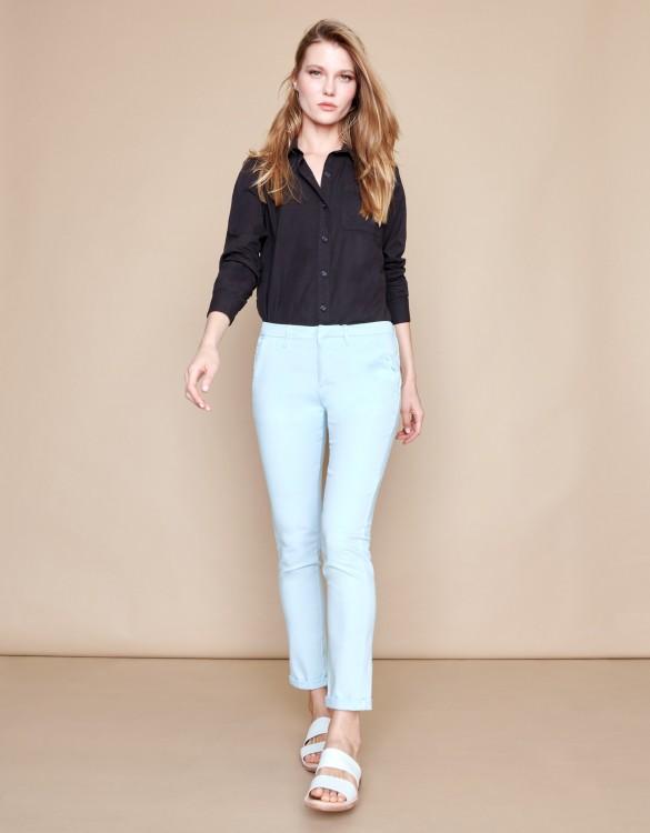 Pantalon chino Sandy Basic 2 - BLEU PALE