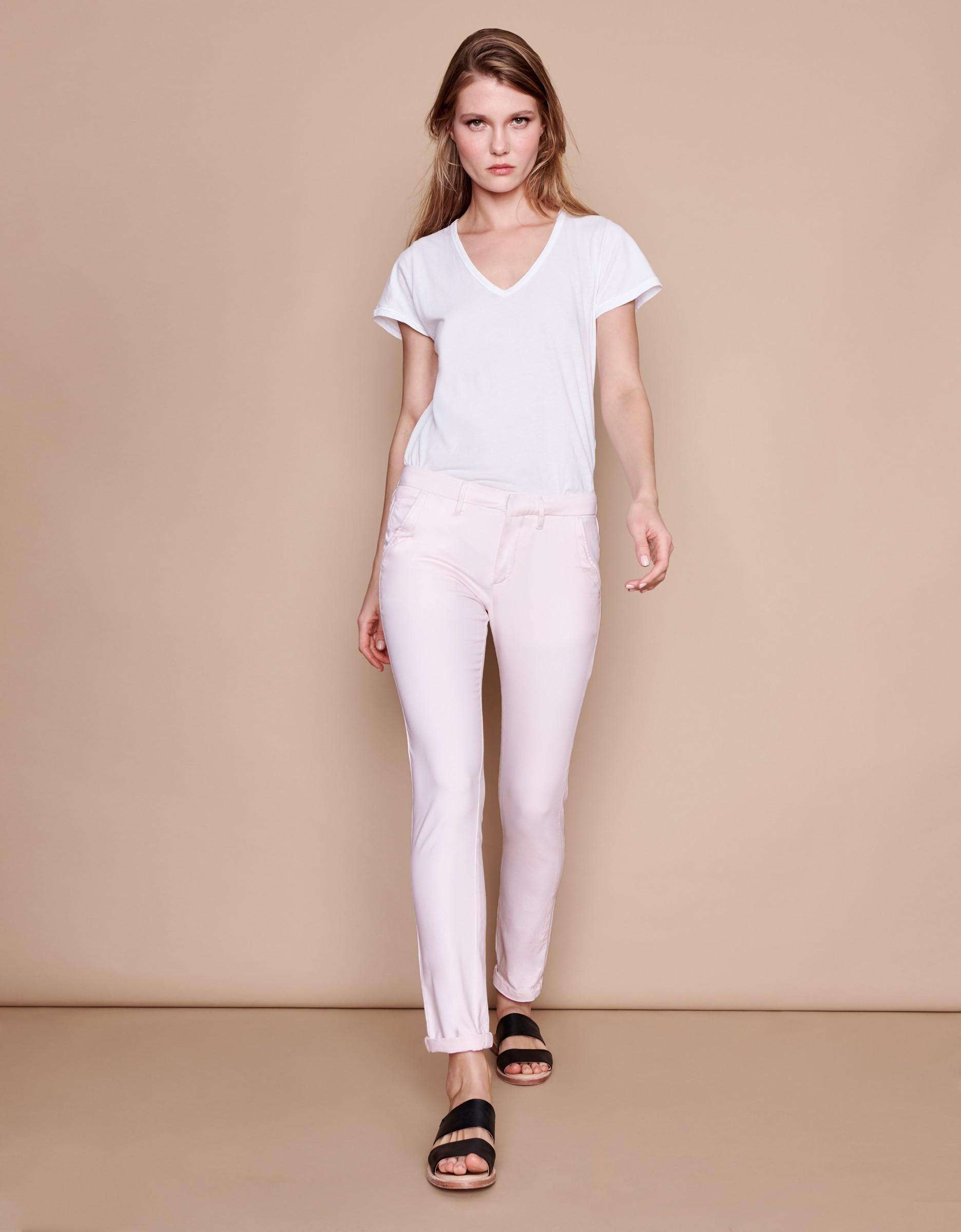 pantalon chino sandy basic 2 rose pale. Black Bedroom Furniture Sets. Home Design Ideas