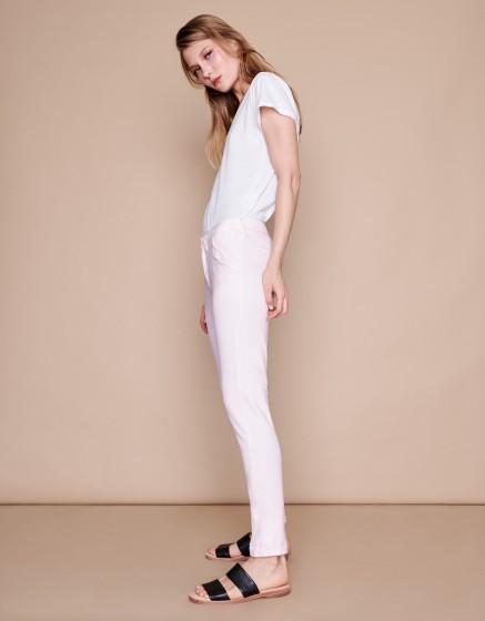 Pantalon chino Sandy Basic 2 - ROSE PALE