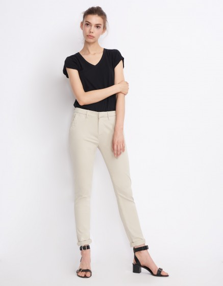 Pantalon chino Sandy Basic 2 - CREAM