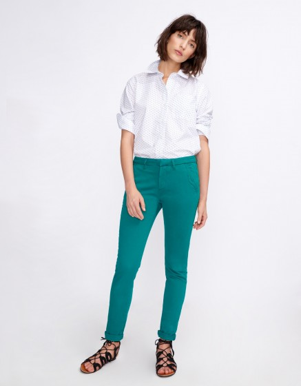 Pantalon chino Sandy Basic 2 - CHLOROPHYLE