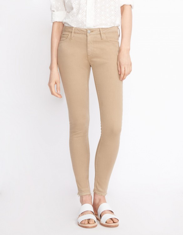 Pantalon skinny cropped Lily Color - MOKA