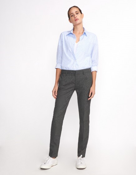 Pantalon cigarette Lizzy Fancy - GRIS CHINE FONCE