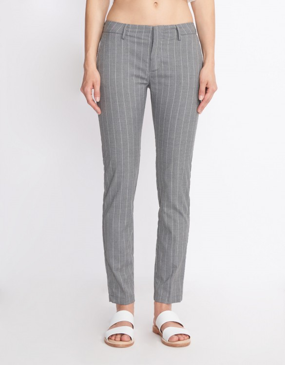 Cigarette Trousers Lizzy Fancy - STRIPES GREY