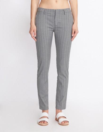 Cigarette Trousers Lizzy Fancy - STRIPES GREY