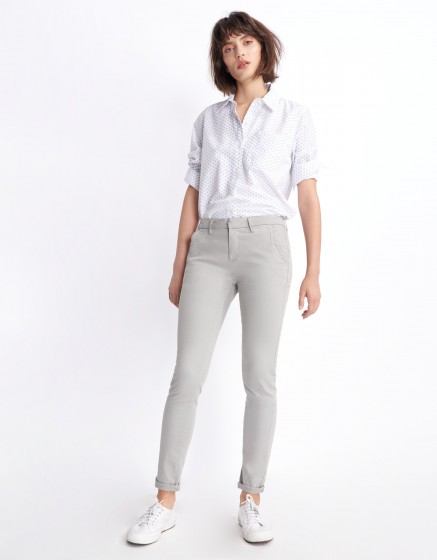 Pantalon chino Sandy Basic 2 - FOG