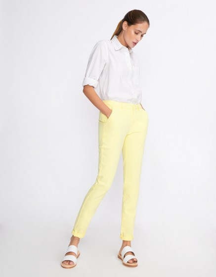 Pantalon chino Sandy Basic 2 - JAUNE PAILLE