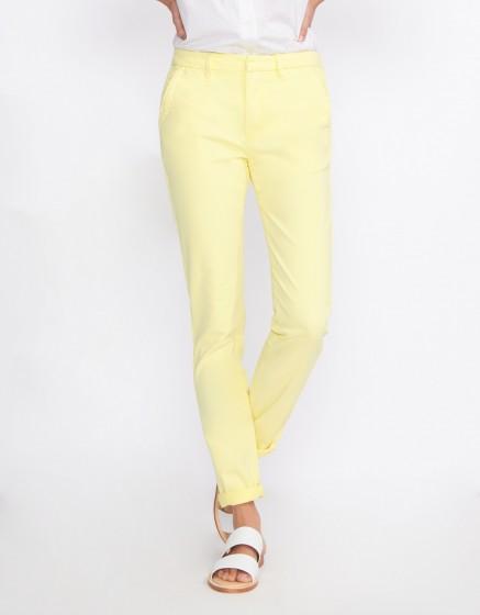 Pantalon chino Sandy Basic 2 - JAUNE PAILLE