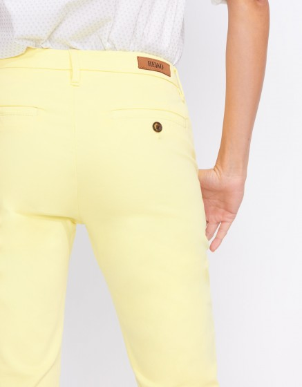 Chino Trousers Sandy Basic 2 - JAUNE PAILLE