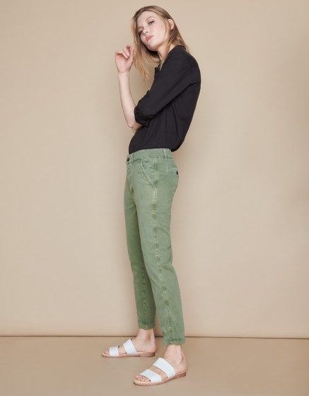 Chino Trousers Scott - MILITARY GREEN